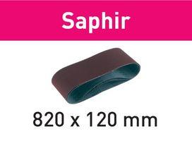 Nastro abrasivo 820x120-P80-SA/10 Saphir confezione da 10 pezzi FESTOOL 488082