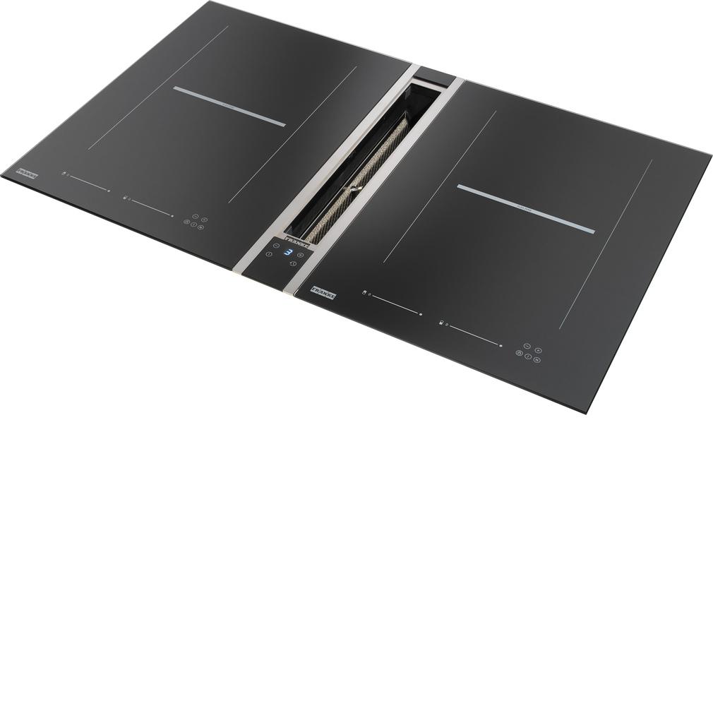 Tables de cuisson à induction avec système d'aspiration encastré FRANKE Mythos FHMT 302 & 905 HE CH