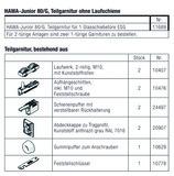 HAWA 11689 HAWA-Junior 80/G Teilgarnitur für 1 Türe