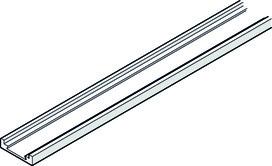 HAWA 25504 Pannello di copertura a giunto porta, alluminio, anodizzato nero, 2620mm