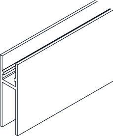 HAWA 13158 Profil porteur/porte glace 6500mm, alu brut, non percé