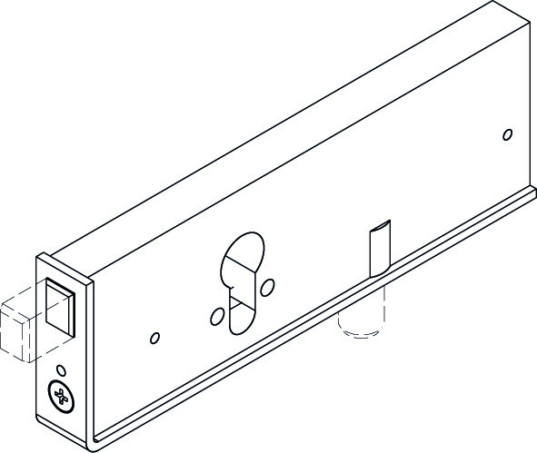 HAWA 13785 Zweiriegel-Sicherheitsschloss für Profilzylinder 17mm