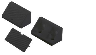 Universal-Eckverbinder Kunststoff schwar