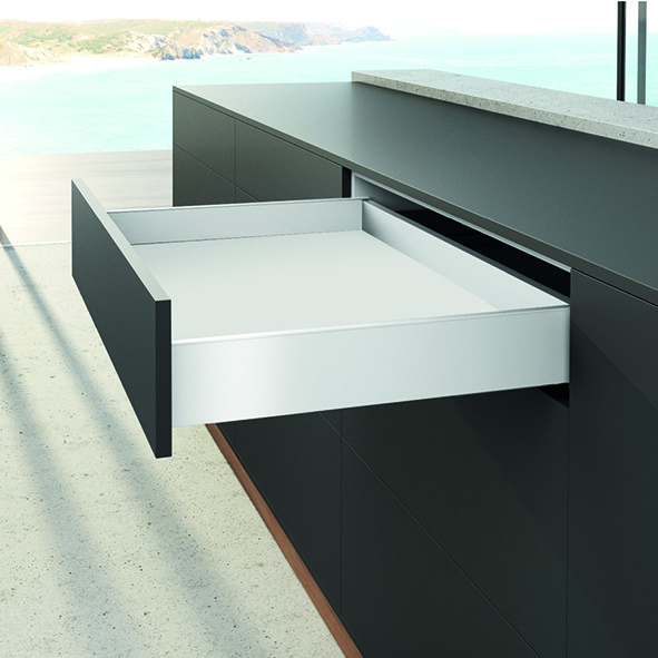 Profil de côté de tiroir HETTICH AvanTech YOU hauteur 101 mm, blanc