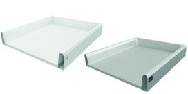 Tiroir / tiroir intérieur complet HETTICH ArciTech, blanc/argent