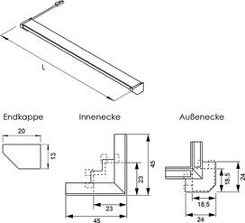 LED Anbauleuchten L&S Emotion Nubio 12 V