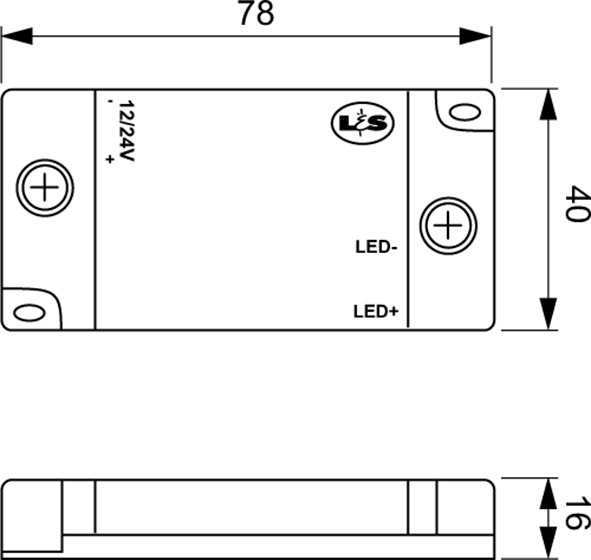 Funk-Dimmempfänger L&S 12 / 24 V
