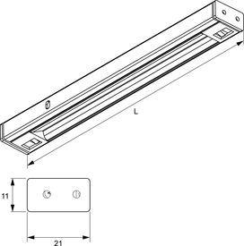 Eclaireage d'armoir LED L&S Kiton DC 12 V