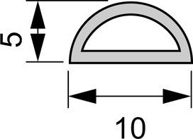 Canalina per cavi L&S 10x5 mm