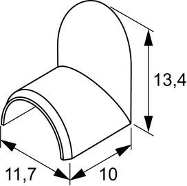 Couvrecle de trou L&S pour passe-câbles 10x5 mm