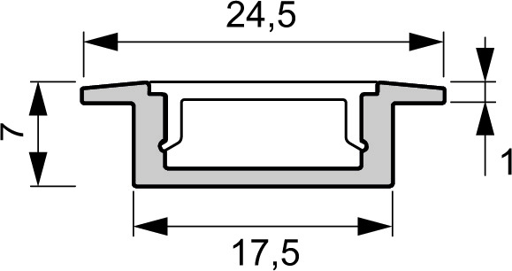 Profili d'incassate LED L&S London senza diaframmi