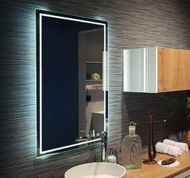 Miroir en cristal LED L&S Emotion Deluxe 12 V